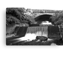 Old Bawn waterfall - Tallaght - Dublin Canvas Print