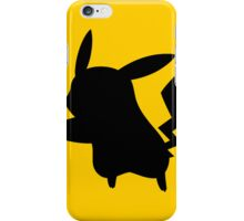 Pokemon Pikachu Silhouette iPhone Case (Yellow) iPhone Case/Skin