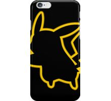 Pokemon Pikachu Silhouette iPhone Case (Black) iPhone Case/Skin