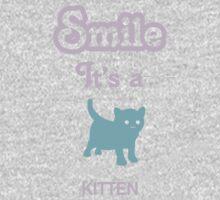 Smile it's a KITTEN Children's Clothing Baby Tee