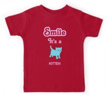Smile it's a KITTEN Children's Clothing Kids Tee