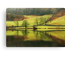 Green Rydal with a Hint of Russet Canvas Print