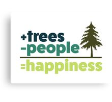 Earth Day Design +trees -people =happiness Canvas Print