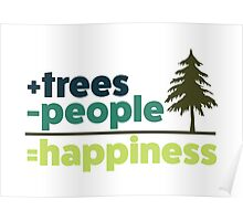 Earth Day Design +trees -people =happiness Poster