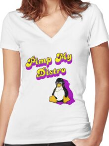 Pimp My Distro Women's Fitted V-Neck T-Shirt