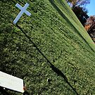 A Dramatic Yet Respectful Angle -- The Grave Of Bobby Kennedy by Cora Wandel
