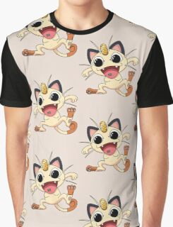 Meowth On Acid Graphic T-Shirt