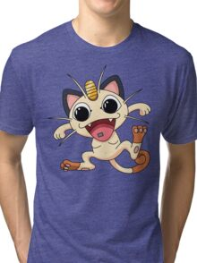 Meowth On Acid Tri-blend T-Shirt