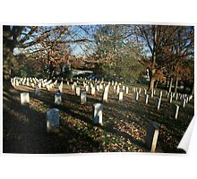 Autumn Shadows And Tombstones In Arlington Poster