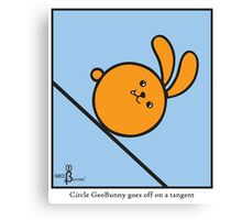 Circle GeoBunny goes off on a tangent Canvas Print