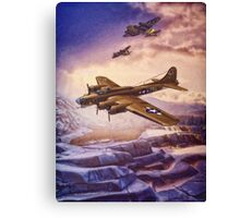 B17 Flying Fortress Over Russia Canvas Print