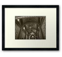©MS La Bóveda Tlapujahua IA Monochromatic Framed Print