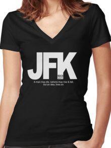 Lives On Women's Fitted V-Neck T-Shirt