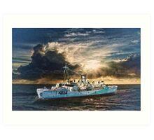 HMCS Shawinigan Art Print