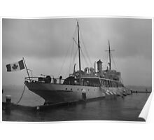 CSS Acadia in Halifax Harbour Nova Scotia Poster