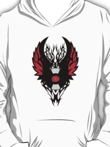 Retro PUNK ROCK Vinyl Record Art - Tribal Spikes and Wings - Cool Music Lover DJ T-Shirt Prints Cases and Stickers T-Shirt