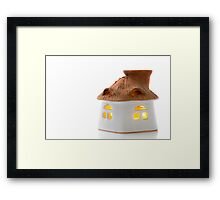 Aromatherapy candle holder Framed Print