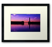 Newhaven harbour sunset Framed Print