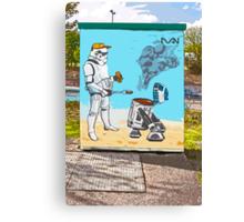 Star Wars BBQ- a piece of street art in Bristol by Dan Canvas Print