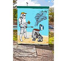 Star Wars BBQ- a piece of street art in Bristol by Dan Photographic Print