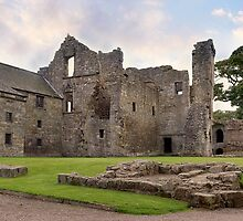 Aberdour Castle Panorama. Fife, Scotland by Miles Gray