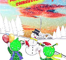 Merry Christmas from the Green Alien Children 2 by Dennis Melling