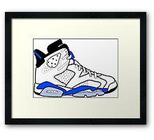"Air Jordan VI (6) ""Sport Blue"" Framed Print"