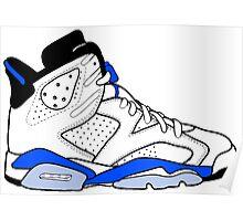 "Air Jordan VI (6) ""Sport Blue"" Poster"