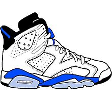 "Air Jordan VI (6) ""Sport Blue"" Photographic Print"