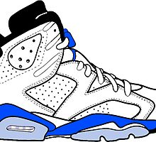 "Air Jordan VI (6) ""Sport Blue"" by gaeldesmarais"