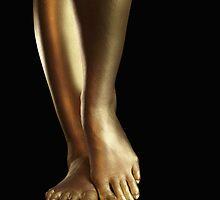 Golden Legs art photo print by ArtNudePhotos