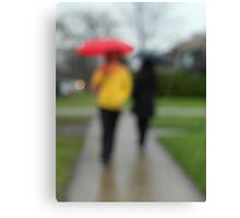 People in the Rain art photo print Canvas Print