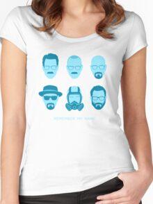 ALL HAIL HEISENBERG! - Blue version Women's Fitted Scoop T-Shirt