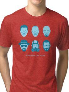 ALL HAIL HEISENBERG! - Blue version Tri-blend T-Shirt