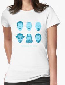 ALL HAIL HEISENBERG! - Blue version Womens Fitted T-Shirt