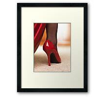 Red High Heels art photo print Framed Print