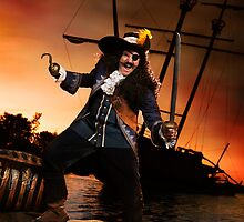 Pirate with a Treasure Chest art photo print by ArtNudePhotos