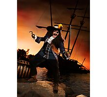 Pirate with a Treasure Chest art photo print Photographic Print