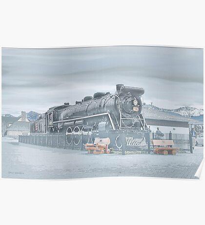 Canadian Steam Locomotive  Poster
