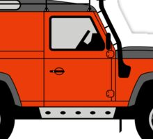 A Graphical Interpretation of the Land Rover Defender 90 Hard Top Adventure Edition Sticker