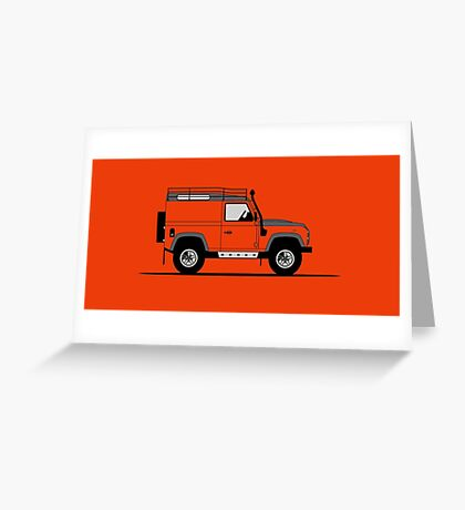 A Graphical Interpretation of the Defender 90 Hard Top Adventure Edition Greeting Card