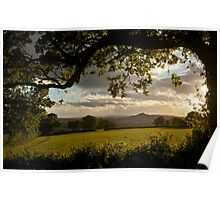 Glastonbury Tor from Pennard Hill Poster