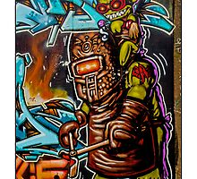 The forge master in the graffiti workshop, Bristol! by TimConstable