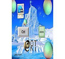 Control ART Delete  Photographic Print