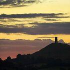Glastonbury Tor Dawn Glow by Nick Pound