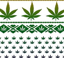 Marijuana Sweater Pattern Phone Case by turfinterbie
