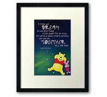 Winnie the Pooh - Dreams Framed Print