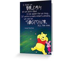 Winnie the Pooh - Dreams Greeting Card
