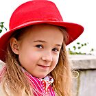 Portrait of a little lady in natural light by MarekM
