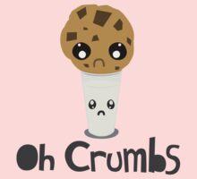 """Oh Crumbs"" - Kawaii Cookie & Milk Kids Clothes"